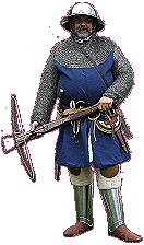 Ein mittelalterlicher Stadtwächter von Past Present Promotions