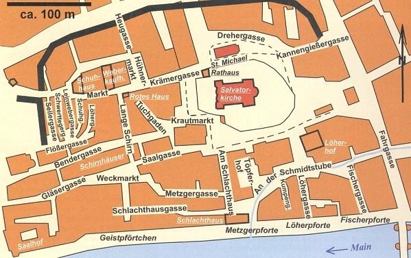Karte der Altstadt von Frankfurt/M.