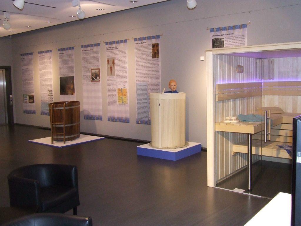 Blick in die Saunaausstellung in Zülpich