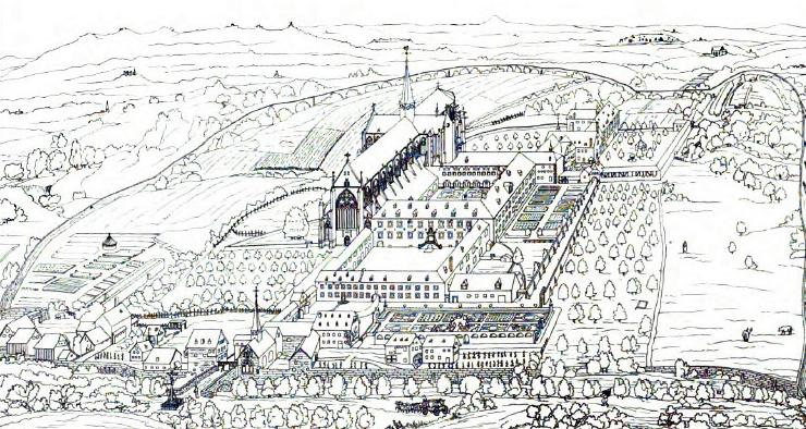 Zeichnung des Klosters Altenberg.