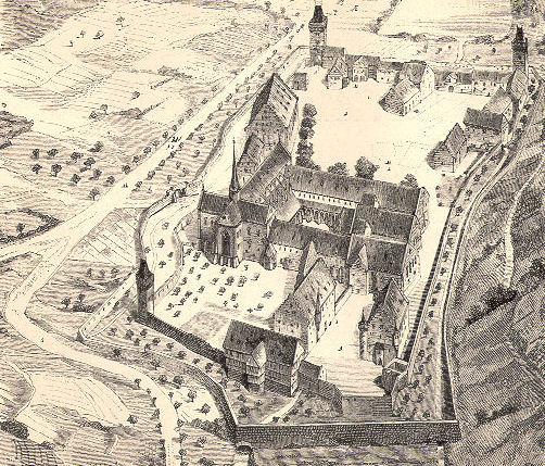 Zeichnung der Gesamtanlage des Klosters Maulbronn.