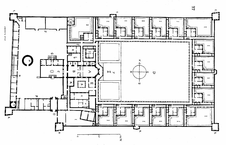 Grundriss der Kartause von Clermont.