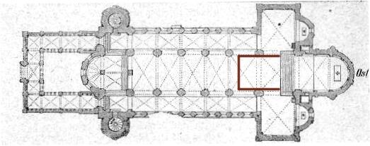 Der Grundriss der Basilika von Maria Laach.